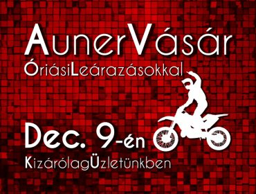 Auner Vásár December 9-én