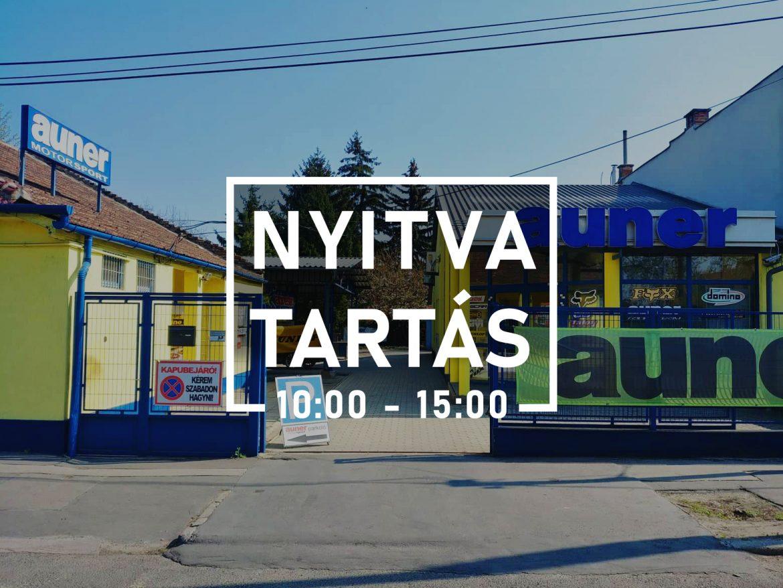 auner üzlet NYITVA TARTAS KORONA VIRUS ALATT2