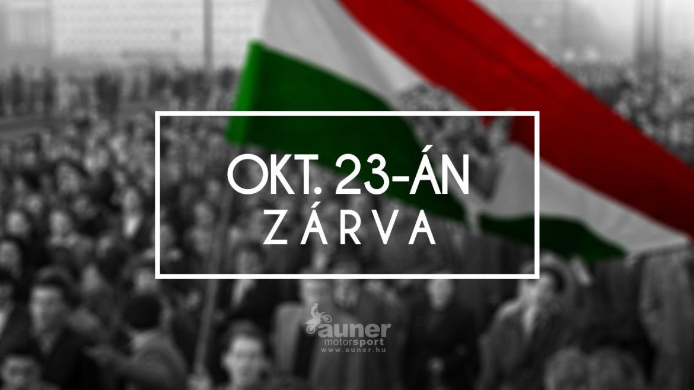 Október 23-án ZÁRVA
