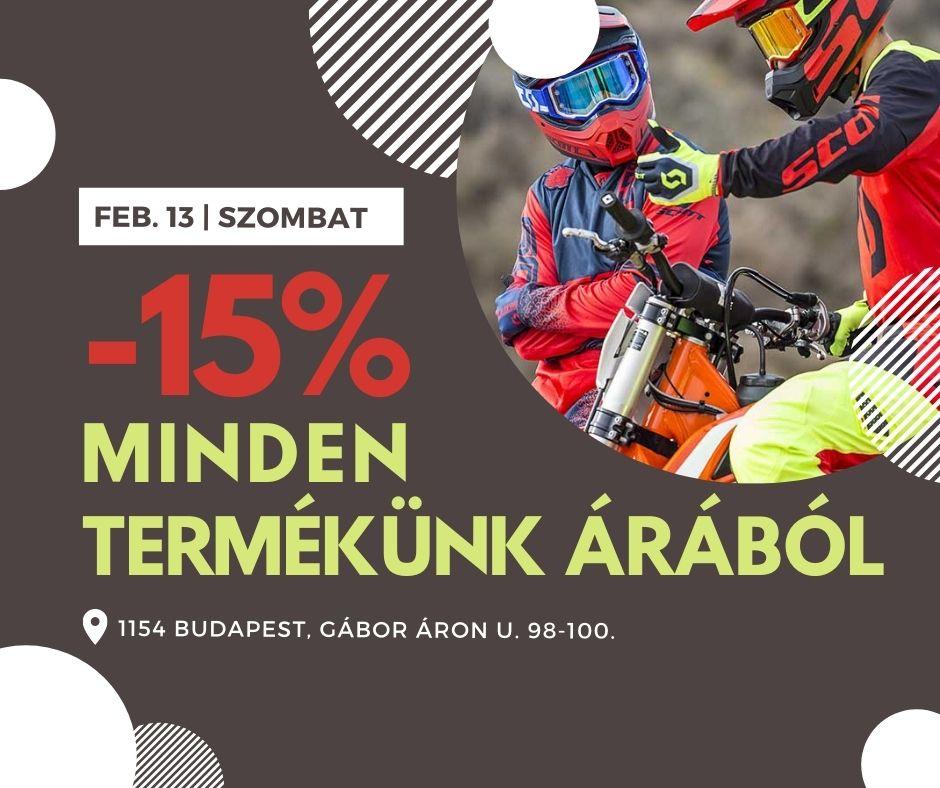 15%-os AKCIÓ ÜZLETÜNKBEN